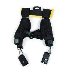 Professional Digital Camera Double Shoulder Straps, Comfortable Dual Shoulder Belt for SLR DSLR Camera Extreme Sports
