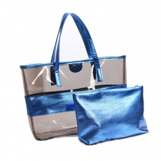 PVC Waterproof Transparent Bag for Women Summer Use, Crystal Tote Bag, Neon Color Jelly Single Shoulder Handbag