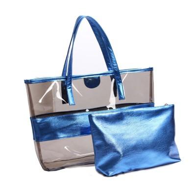 PVC Waterproof Transparent Bag for Women Summer Use, Crystal Tote Bag, Neon Color Jelly Single Shoulder Handbag