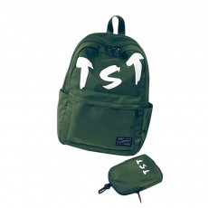 Fashion School Bag with Zipper Student Backpack, Individuality Large Capacity Universal Letters Couple Canvas Shoulder Bag