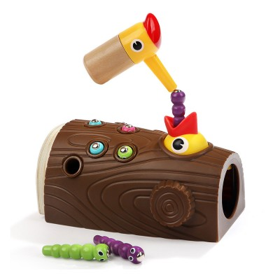 Intelligence Development Wooden Toy of Birds Catching Worms, Early Education Tool for 1-3 Years Boy Girl, Magnetic Children Toy