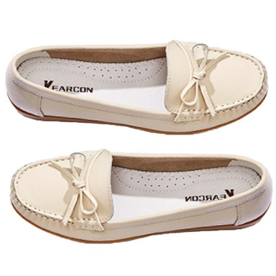 Sandal Leather PU Rubber Material, Flat-heeled Abrasion-resistant Foot Steady Adjustable Shallow Shoes for Mommy Nurse