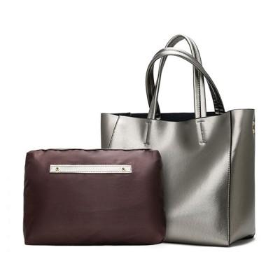 Elegant Tote Bag Shoulder Bag, Retro PU Leather Fashion Litchi Grain Large Size Clutch Bags, 2019 Fashion Handbag with Purse