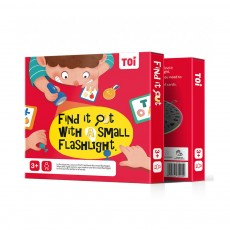 TOI Board Game Card, Early Childhood Education Puzzle, Interactive Games Flashlight Treasure Hunt Cognitive Card Concentration Training