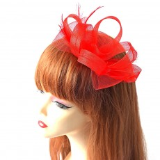 Catwalk Flowers Mesh Hair Bands, Mesh Headwear for Shows, Cocktail Hat for Women Hair Accessories Wearing