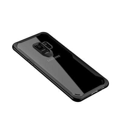 Compatible for Samsung S9 Plus Phone Full Protection Case Transparent, Minimalist Air Sac Design Breaking-proof All-sided Phone Back Cover for Samsung Galaxy S9 Plus
