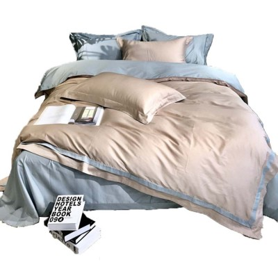 Four-piece Bedding Set Cotton Material, Flat-sheet Pillow Soft Bed Sheet Fitted-sheet Breathable Bedding Bag Comfortable Quilt