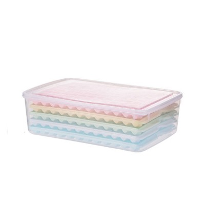 96 Grid Ice Lattice Mould with Cover, Sealed Crisper DIY Ice, Multiple Sub-box Ice Lattice Mold Ice-making Box