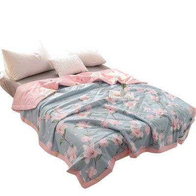 2019 Summer Quilt, Cotton Material Soft Environment Comforter Washing Machine Available, Softness Summer Refreshing Bedspreads