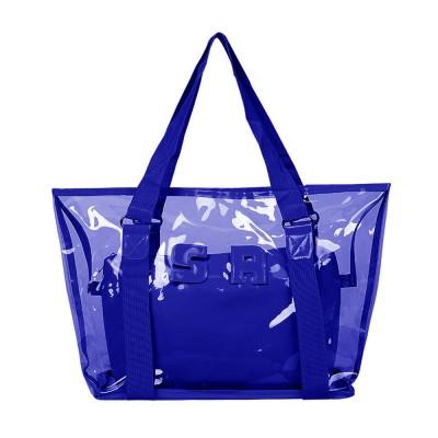 Western Style Tote Bag for Women 2019, Fashionable Exported Handbag Waterproof PVC Beach-bag, Women-dedicated Furla Transparent Crystal Jelly Bag