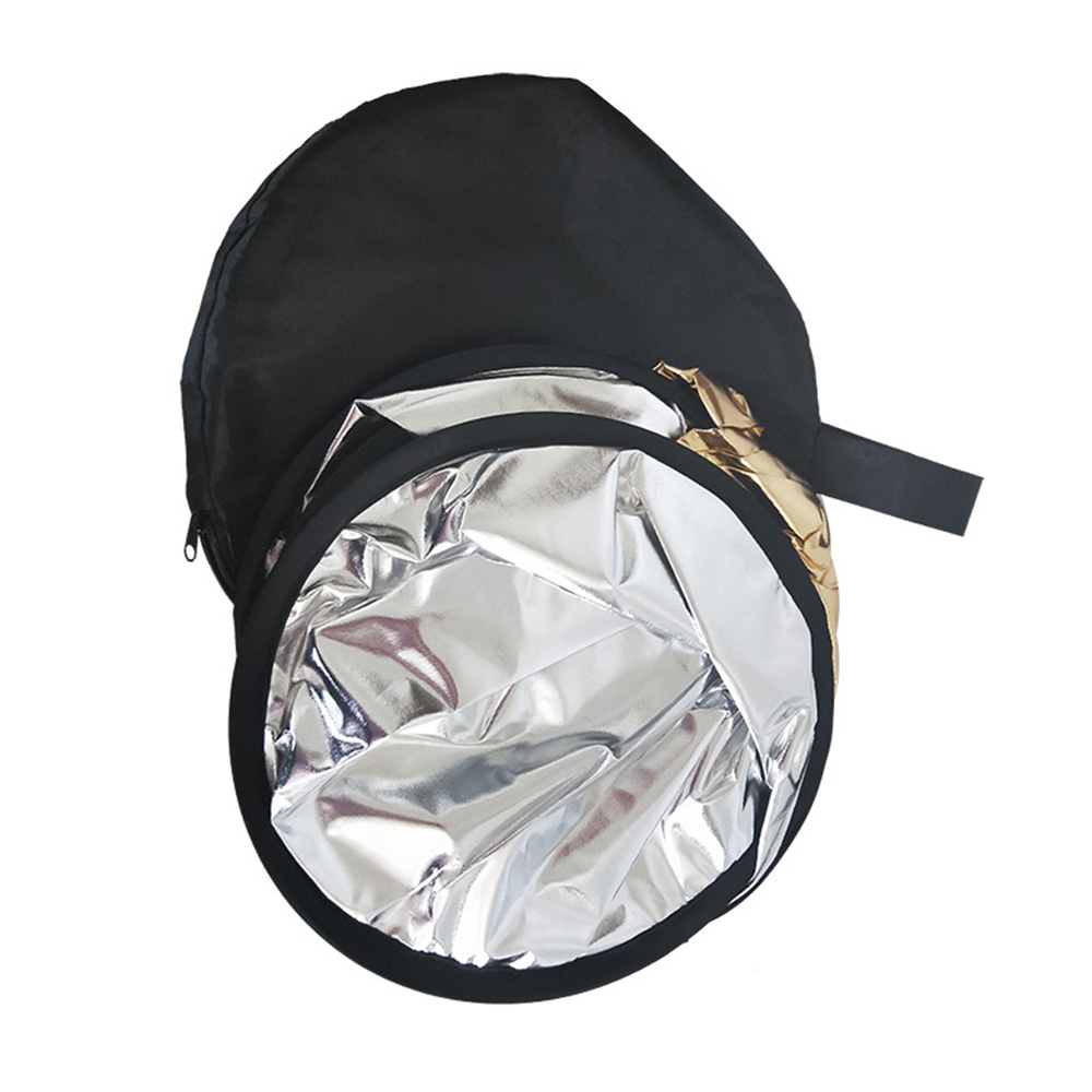 Gold for Photography Phot Photographic Reflector 80cm 2-in-1 Portable Collapsible Multi Disc Light Reflector Round 32-inch Foldable Reflector Photography With Bag For Any Photography Situation Silver
