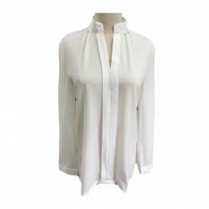 Lady's Chiffon Shirt with Long Sleeves, Base Shirt for Spring, Slim White Shirt for Office, Casual