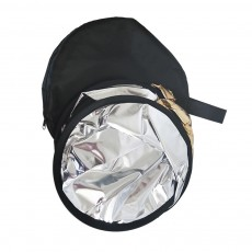 80cm Portable Foldable Silver Gold 2 in 1 Reflector, Collapsible Film Shooting Photography Disc Reflector