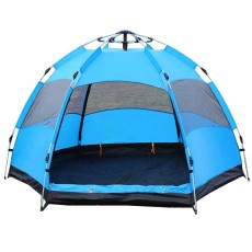 Tent Polyester Fiber Double Layers Waterproof Camping Six Corners for 5-8 People Insect Prevention Automatic Tabernacle