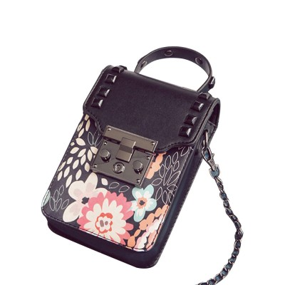 Personality Rivet Mobile Phone Shoulder Bag, All-match Mini Slanting Bag for Dating, Shopping, Daily Fahsion Mini Bag