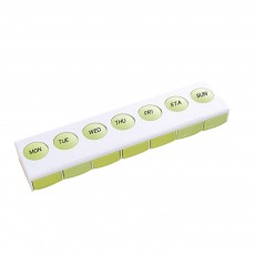 Mini Plastic Pill Box, Portable PP Material Pill Container with Spring for 7 Days, Small Storage Box with 7 Segmentations