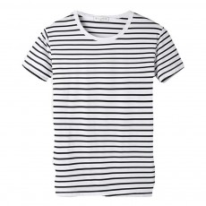 Short Sleeve Stripe T-shirt, Male Daily Wear Summer Straight Cut Round Collar Tees, Students All-match Thin T-shirt