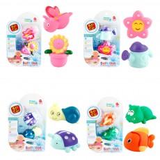 Baby Shower Bath Toys, Soft Silicone Floating Squeeze Water Spray Bathtub, Cartoon Animals Bathing Toys