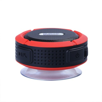 Outdoors Portable Mini Wireless Bluetooth4.0 Speaker, Functional Waterproof Small Sound Box with Sucker, Portable 3D Sound Quality Audio