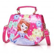 Children Backpack, PU Leather Cartoon Cute Fashion Shoulder Messenger Bag, Baby Girls Princess Mini Bag Handbag