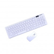 14 Inch Chocolate 2.4G Wireless Keyboard with Mouse Set, Ultrathin Wireless Keyboard Mouse Set for Mac Win 7 Win 8 Android XP System