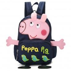 Baby Kids Backpack, Anti-lost Cartoon Peppa Pig Shoulder Bag, Waterproof Wear Resistance Unisex Large Capacity Children Schoolbag