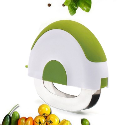 Creative Stainless Steel Vegetable Fruit Salad Double Blades Slicer, Safe Rotate Quick Ktichen Cutter Chopper with Lock