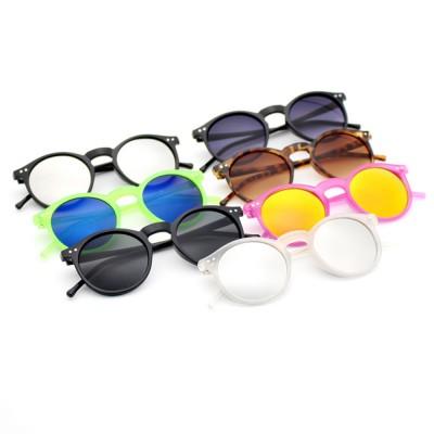 Fashion Minimalist Round Frame Lady Sunglasses, Sunlight Protection Decoration Sanded Frame Sunglasses for Women