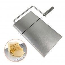 Professional Quality 304 Stainless Steel Cheese Slicer, Butter Cutter Board with Replaceable Slicing Line