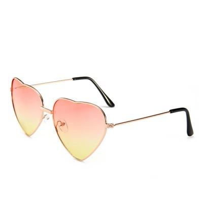 Minimalist Stylish Heart Shape Frame Unisex Sunglasses, Sun UV Protection Outdoors Decoration Dress Up Sunglasses for Ladies