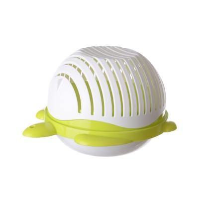 Easy Kit Salad Vegetable Fruits Slicer Chopper Bowl, Kitchen Fresh Food Washer Cutter Maker Tools