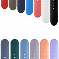Skin-friendly Silicone Single Colored iWatch Watchband, Unisex Universal Sports Durable Apple Watch Strap