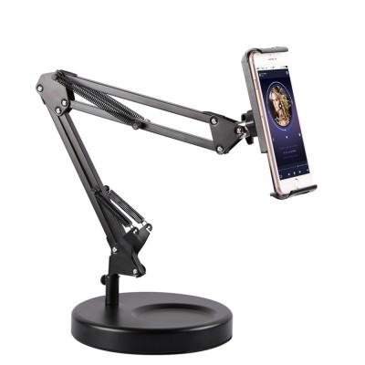 Creative Foldable Mobile Phone Cantilever Type Supporter, Quality Carbon Steel ABS Table Tablet Holder for 3.5 to 11 inch iphone ipad Samsung Tab
