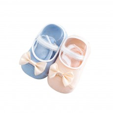 Socks Cotton Material Soft with Bow Strap, Anti-skid Foot Cover, Breathable Stockings for Kids Summer Spring