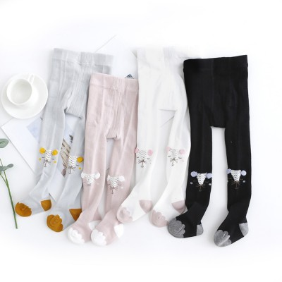 Kids Socks Cotton Material with Crotch, Elastic Tights Soft for Dancing, Non-trace Tailor Pantyhose for 0-3 Years Baby