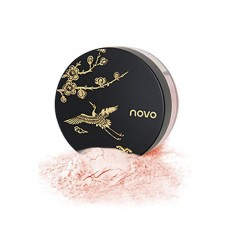 4 Colors Loose Powder Cosmetic, Finishing Powder with Imperial Palace Printed Shell, NOVO Moisture Lasting & Waterproof Powder