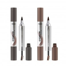 Dye Cream Eyebrow, Mark Pen Nib Eyebrow Pencil, Waterproof Eyebrow Pencil with Brush 2 Colors Available