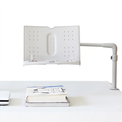 Book Holder with Adjustable Angle, Length, Book Stand 360 Degree Rotatable Stand for Book iPad Laptop Sheet Music