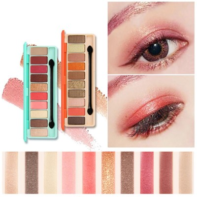 NOVO Ten Color Eye Shadow Palette, Long Lasting Eyeshadow Eye Shadow Kit, Girls Eye Makeup Beauty