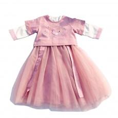 Chinese Dress for Baby Girl, Retro Improved Cheongsam Costume, Genuine Original Embroidered Tops+Tutu Dress