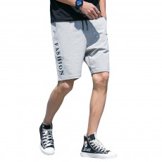 Men Summer Short Pants with Pockets, Causal Beach Shorts with Elastic Waist Drawstring, Lightweight Loose Shorts