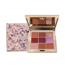 9 Colors Eyeshadow, Palette Glitter Velvet Texture Mixed Eye Makeup, Long Lasting Eye Shadow Tray Best Gift for Women