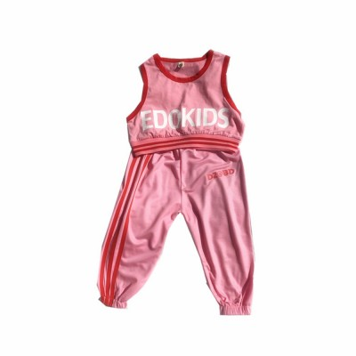 Children's Summer Suits, Printed Vest & Slacks 2-piece Set, Girls Sleeveless Top with Trousers