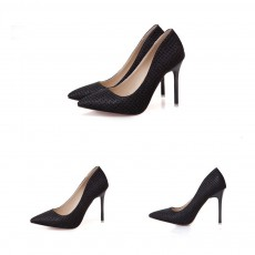 Women Pointy High-heeled Shiny Shoes, Shiny Heel for Wedding, Parties & Banquet High Heels