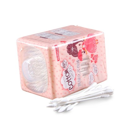 200 Pieces Double End Cotton Swabs, Absorbent Cotton Swabs 100% Cotton Makeup Wipes