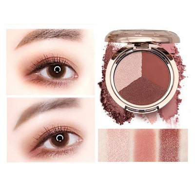 3 Colors Eyeshadow Set, Waterproof Long Lasting Makeup Eyeshadow Palette, Colorful Beauty Cosmetics