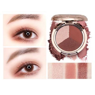 3 Colors Eyeshadow Set, Waterproof Long Lasting Makeup Eyeshadow Palette, Colorful Beauty Cosmetics