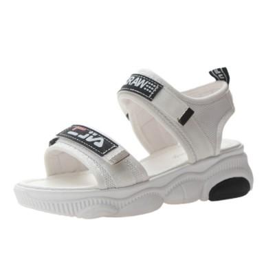 Women Scandal Elastic Adjustable Velcro Strap Shoe Breathable Athletic Open Toe Shoe Bear Bottom for Walking Running