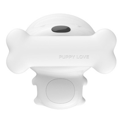 LED Creative Puppy Bedside Lamp with Soft Light, Timing Night Light with USB Port and Stepless Dimming
