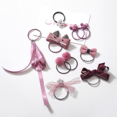8 Pieces Hair Band Set Adorable Bowknot Elastic Hair Ties Cute